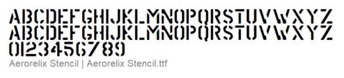 Aerorelix Stencil