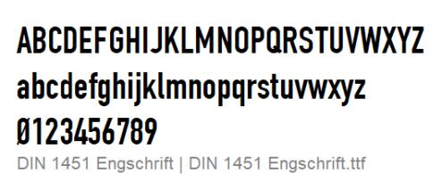 DIN 1451 Engschrift