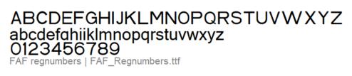 FAF_Regnumbers
